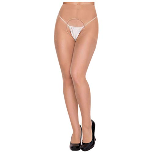Dorical Damen Sexy Strümpfe, Frauen Halterlose Strumpfhosen, Dessous Strapse Strümpfe Slips Strings Unterwäsche Panties Reizwäsche Tangas Promo (One Size, Z003-Khaki)