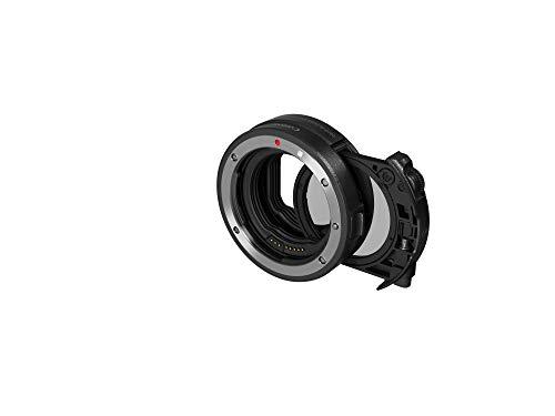 Canon EF-EOS R - Adaptador para Objetivo de cámaras Canon (Montura EF-R, Compatible con EOS R, Filtro Polarizador Circular), Color Negro