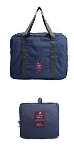 ChenDan Large Capacity Portable Travel Bag Fitness Business Trip Luggage Bag Pull Rod Bag Waterproof Storage Bag (Navy Blue)