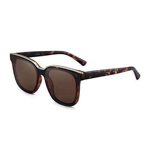 YWSZY Gafas de Sol, Moda De Gran Tamaño Round Cat Eye Hombres Y Mujeres Gafas De Sol Gafas De Marco De Metal UV400 (Lenses Color : Brown)