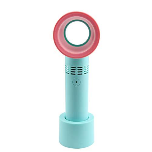 Ventilador sin cuchilla USB recargable portátil mini refrigerador de mano ningún ventilador móvil de la hoja de R-WEICHONG