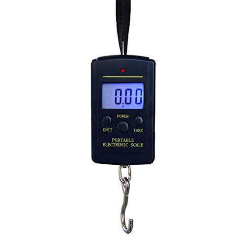 50Kg / 10g LCD Digitale Weegschaal Draagbare Hangweegschaal Achtergrondverlichting Vissen Zak Elektronische Weegschaal Bagage Mini Haakweegschaal, Zonder batterij