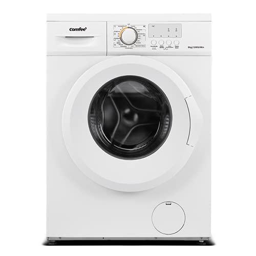 Comfee CFEW60-124 Waschmaschine / 6KG / Slim Line / D / 1200 U/min / Trommelreinigung / 15min-30min-45min Schnellwaschgang / AquaStop