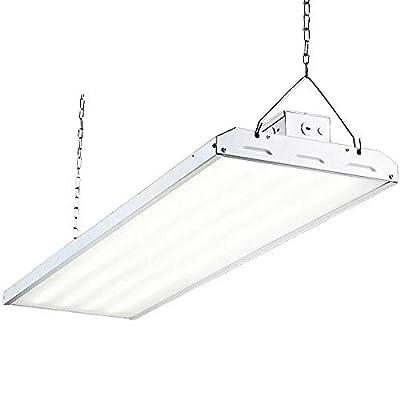 Hykolity LED High Bay Shop Light, 4FT Linear LED Industrial Workshop Light, Warehouse Aisle Area Light 5000K Daylight, 1-10V Dim, UL, DLC Complied