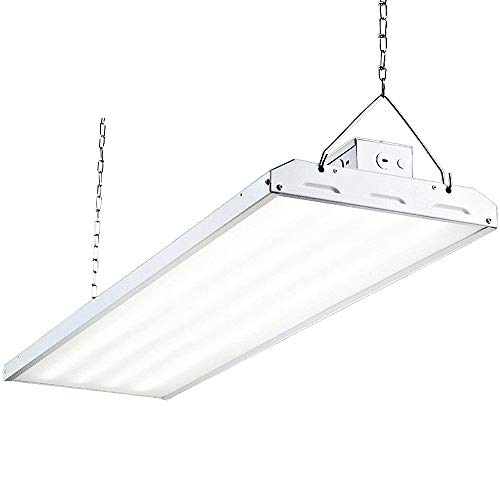 LED High Bay Shop Light, 4FT 223W 135LM/W Linear LED Industrial Workshop Light, Warehouse Aisle Area Light 30105lm, 5000K, 4 Lamp Fluorescent Equivalent, 1-10V Dim, UL Complied