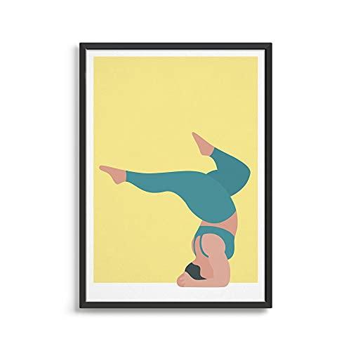 MG global Póster de Yoga/Diseño Moderno Estudio de Yoga Decoración/Gran Arte de Pared Regalo Para Un Amante De Yoga Sin Marco Arte De La Pared