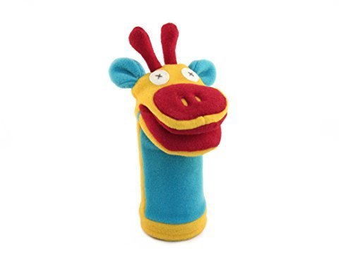 "Cate and Levi 12"" Handmade Softy Giraffe Hand Puppet (100% USA Polar Fleece)"