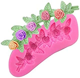S.Han Silicone Rose lace Moulds Fondant Mold Cake Mold Cupcake Baking Tool Resin