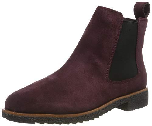 Clarks Damen Griffin Plaza Chelsea Boots, Braun (Burgundy Suede), 41 EU