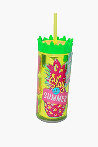 """Double Wall Insulated 16 oz (Green Says""""Slay all summer"""") by GEA-R7 Home & Kitchen"""