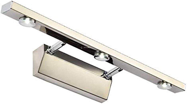 Aglia UK Europische moderne LED kann Stretched Edelstahl Spiegel Scheinwerfer (gre   3w40cm)