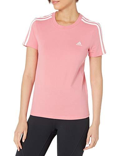 adidas womens 3-Stripes Tights Hazy Rose/White X-Small