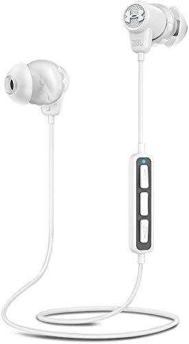Auriculares Deportivos Bluetooth, inalámbricos, Resistentes al Sudor, Control de Volumen/música y Llamadas compatibles con iPhone, Android, tabletas y Dispositivos MP3, Blanco/Gris
