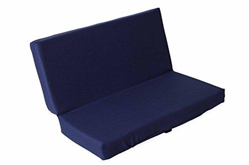 sitzZ Sitzkissen Blau, faltbar, klappbar, Thermokissen, Stadionkissen, Bodenkissen, für Kinder, Erwachsene, Senioren, zum Ausflug, Camping, Wandern, Outdoor, dick gepolstert, robust 33cm x 29cm x 3cm