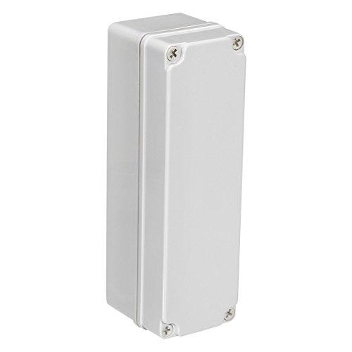 sourcingmap 250 x 80 x 85 mm / 9,84 x 3,15 x 3,35 Zoll Wasserdicht IP67 Elektronische ABS Kunststoff DIY Abzweigdose Projektkasten Gehäuse Gehäuse für Outdoor/Indoor