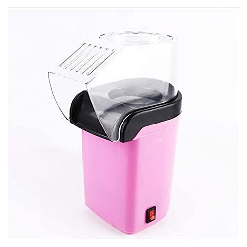 Mini máquina de maíz maíz, máquina de palomitas de maíz automática for niños, populares de palomitas de palomitas de aire caliente con tapa superior (Color : Pink, Size : 26.6x12.3x18.5cm)