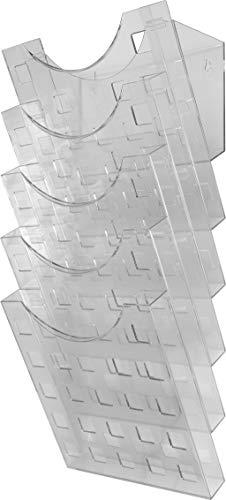 "Helit H6103102 - Wandprospekthalter ""the grid wall"" 5 x DIN A4, glasklar"
