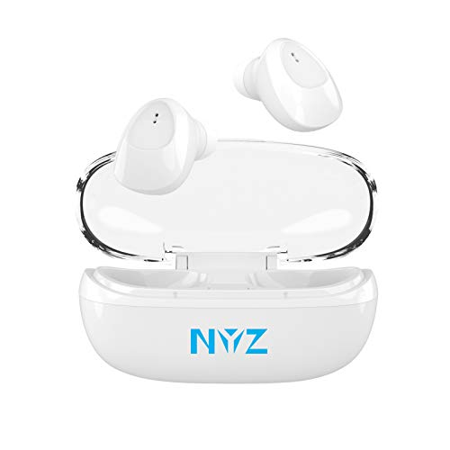 Wireless Earbuds, NYZ [2020 Upgraded] True Wireless Bluetooth Headphones in-Ear Earphones HiFi Stereo Cordless Earbuds with Microphone Portable Charging Case for iPhone,Android,Windows (Space C1)