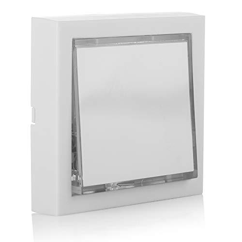Byron 7760 Verdrahteter Universal-Klingeltaster in weiß mit Beleuchtung, Bianco