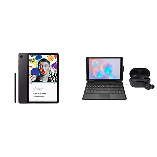 Samsung GalaxyTabS6Lite,Tablet inklusive S Pen, 64 GB interner Speicher, 4 GB RAM, Android, WiFi, Oxford Gray + Keyboard Cover Samsung Tab S6 Lite inkl. JBL Headset Tune TWS 115