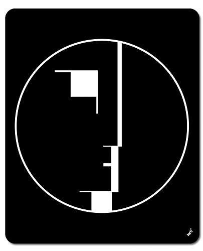 1art1 Oskar Schlemmer - Staatliches Bauhaus, Logo, 1922 Mauspad 23 x 19 cm