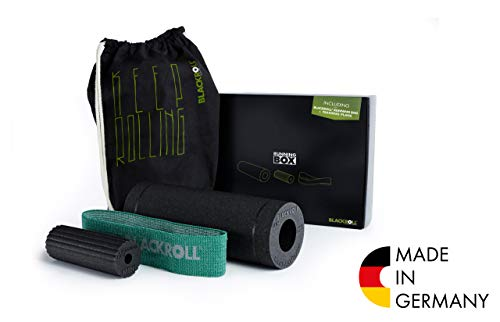 BLACKROLL Running Box, Faszien-Set für Läufer inkl. Faszienrollen & Trainingsband