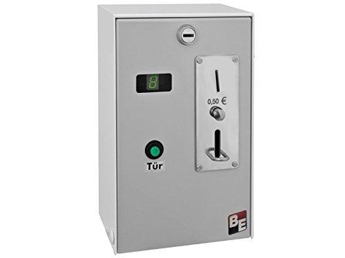 Münzautomat für 50 Cent Münzen, mit Türentriegelung, Zeiteinstellung und Münzprüfer