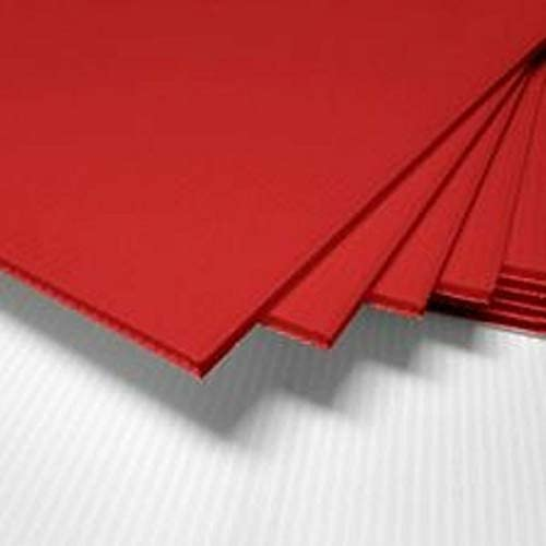 RED Regular Spring new work one after another discount Corrugated Blank Sign Sheet 4MM 10 12