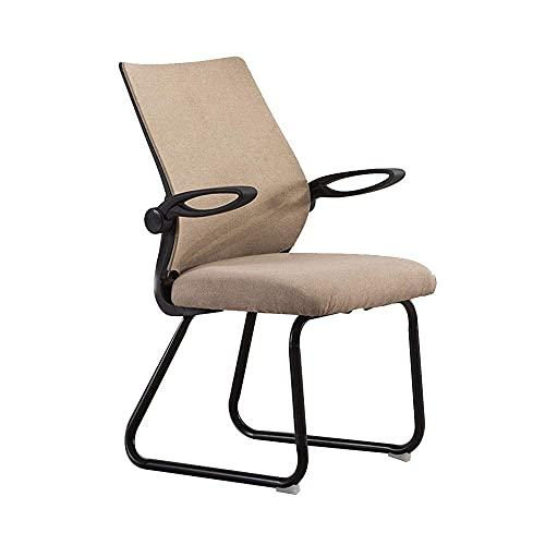 Büro Gaming Stuhl,Einstellbare Armlehne Baumwollsitz Ergonomie Haushaltsstuhl Büro Büro Komfortables Personalstuhl Nennt Lastkapazität: 440lbs, Dunkelbraun Stuhl
