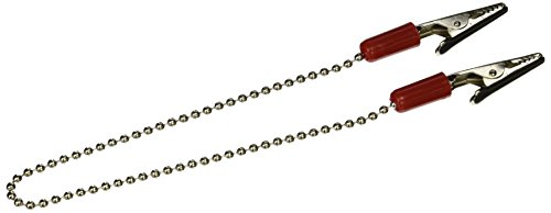 3D Dental BCRE Bib and Napkin Clip with Chain, Red (Pack of 3)