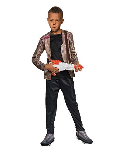 Horror-Shop Star Wars 7 Kostüm Kinder Finn 2-Tlg Jacke mit Hemd Hose Schwarz Braun - M