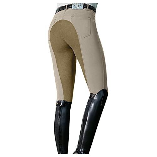 HFStorry Damen Reithosen Hohe Taille Sport Reithosen Damen Sportreithose Outdoor-Leggingshose Mit Hoher Taille Legging-Hose Mit Hoher Taille