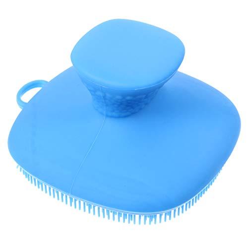 FRCOLOR Brosse Nettoyante pour Le Visage en Silicone Gommage pour Le Visage Clean Brush Cleanser Pad Brosse de Massage Exfoliante pour Le Visage pour Les Types de Peau (Bleu)