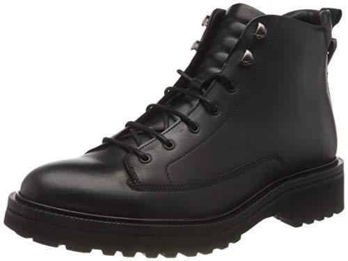 HUGO Herren Land_Halb_lt Mode-Stiefel, Black1, 39 EU, 39