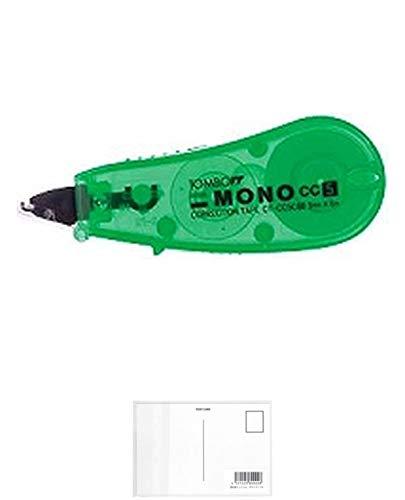 トンボ鉛筆 修正テープ MONO CC5C CT-CC5C60 グリーン 【× 7 個 】 + 画材屋ドットコム ポストカードA