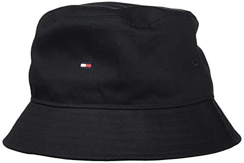 Tommy Hilfiger Flag Bucket Hat Sombrero de Copa Baja, Negro, Taille Unique para Hombre