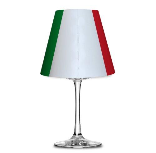 Fanartikel Fußball WM 2014 Brasilien Lampenschirm Glas (Weinglas) Teelicht #1085 (Italien)