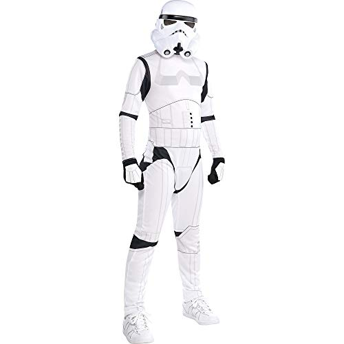 Costumes USA Star Wars Stormtrooper Costume for Boys, Medium (8-10), Includes Black and White Jumpsuit with Mask