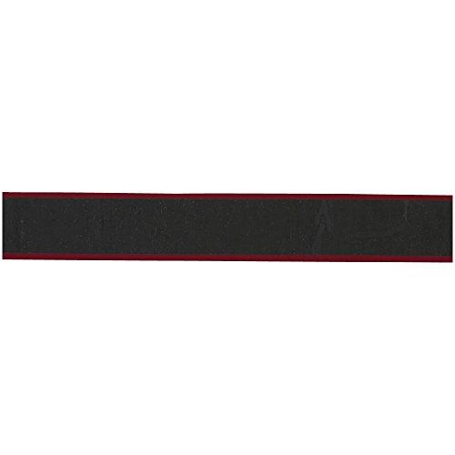 MIZUNO(ミズノ) テニス グリップテープ(ストライププリント) 63JYA84162 ブラック×レッド