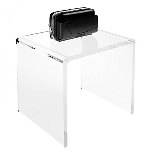 Avà srl Tavolino plexiglass Trasparente - Misure: 31 x 21 x H25 cm