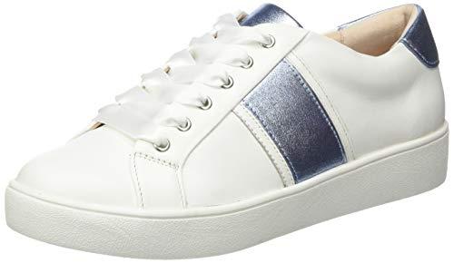 Gerry Weber Shoes Lilli 19, Zapatillas Mujer, Blanco (Weiss/Blau 093), 36 EU