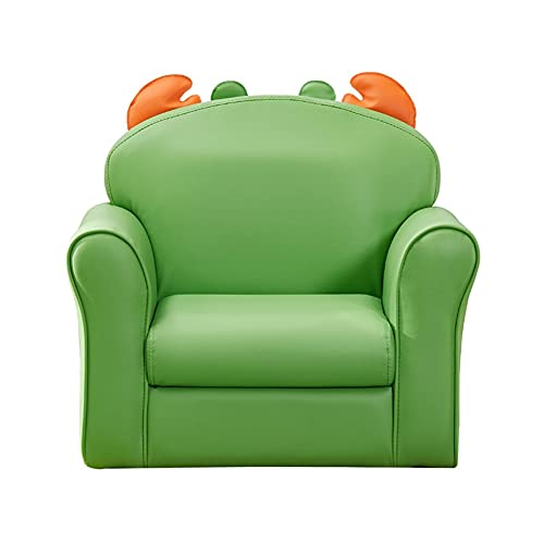 NXYJD Forma Animal pequeño sofá Silla niño niña Perezoso sofá Asiento Verde Alto elástico Esponja Esponja