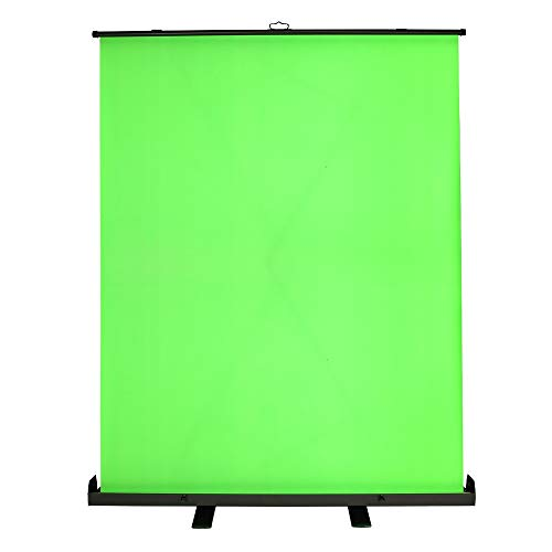 Homegear Streaming/Video Background Green Screen – Pull-Up Backdrop in Case