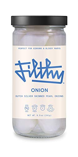 Filthy Food Filthy Onions - Premium Bloody Mary Garnish - Non-GMO & Gluten Free - 8oz Jar, 1 Count (Packaging May Vary)