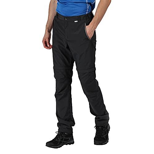 Regatta Pantalon Technique léger et Sec Rapidement avec Jambes dézipables Leesville-Long Trousers Homme, Ash, FR : XS (Taille Fabricant : 30\