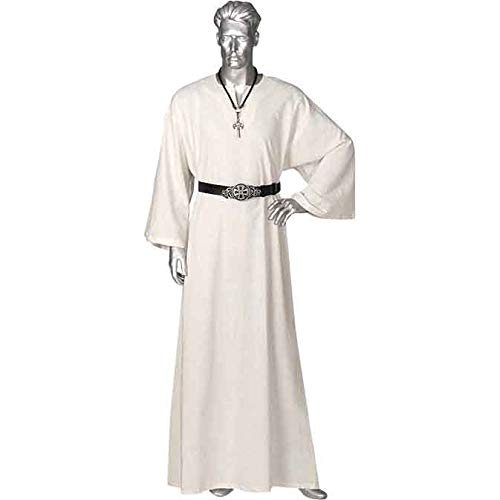 The Medievals Mens Celtic Ritual Robe, White - Small