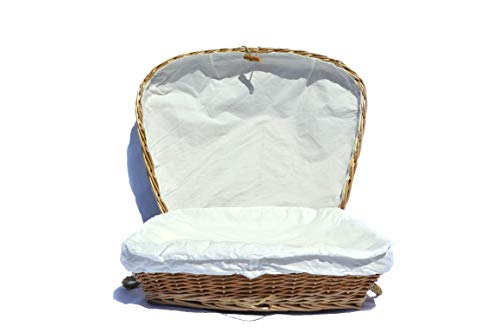 Hand Woven Burial Eco Friendly Wicker Pet Casket
