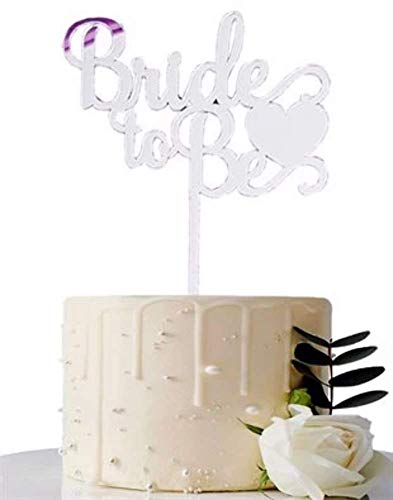 Bride to Be Silber Cake Topper, Glas