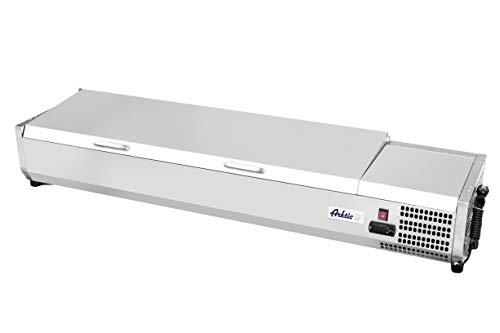 HENDI Vitrina expositora refrigerada GN 1/3 para servicio - 9x GN 1/3-230V / 180W - 0/8˚C - 2005x395x(H)290 mm