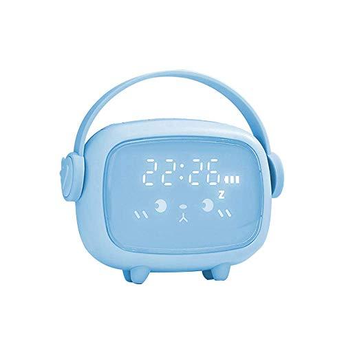 FHISD Montre pour enfants avec contrôle vocal pratique, mignon, adorable montre de chevet à LED, contrôle vocal, montre